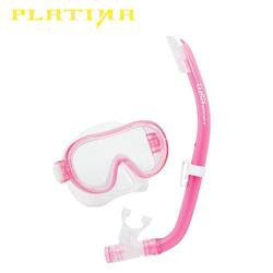 Tusa Mini-Platina Schnorchelset - Clear Pink