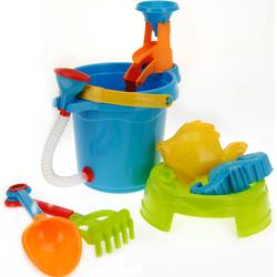 Strandspielzeug Eimer 4,5 L - Gießschlauch Förmchen Schaufel Sieb Sandspielzeug