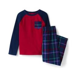 Fleece-Pyjama mit Tasche - 146/152 - Blau