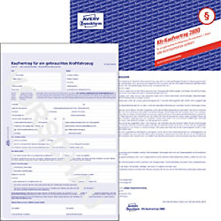 AVERY Zweckform Kaufvertrag 2880 Blau DIN A4 Perforiert