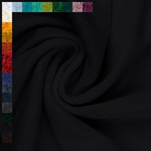 Bündchenstoff Alina, gerippt, Schlauchware, uni schwarz (25cm x 28cm/56cm)