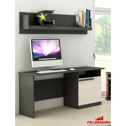 Feldmann-Wohnen Schreibtisch TREND, mit Wandregal