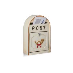 relaxdays Briefkasten Briefkasten antik mit Posthorn