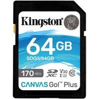 Kingston SDXC Canvas Go! Plus 64 GB Class 10 UHS-I V30