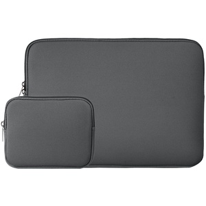 RAINYEAR 15,6 Zoll Laptop Tasche Hülle Laptophülle Laptoptasche Case Sleeve Schutzhülle mit Zubehör Tasche Kompatibel für 15,6 Notebook Computer Ultrabook Chromebook(Grau)