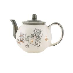 Mila Teekanne Mila Keramik-Teekanne, Oommh Katze relax - take, 1,2 l