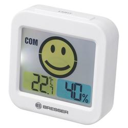 BRESSER Thermo- und Hygrometer Temeo Smile mit Raumklimaindikator weiß