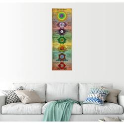 Posterlounge Wandbild, The Seven Chakras (Englisch) 30 cm x 90 cm