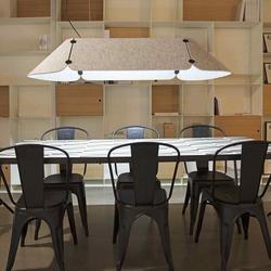 Fonovia LED Büro-Hängelampe 156cm Schallabsorbierend Grau