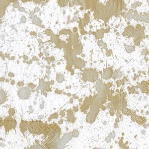Caspari 13192C Paket von 20erhalten mit Servietten Stoff/Papier Gold 12,5x 12,5x 0,02cm
