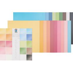 URSUS Papierkarton Scrapbook-Block Struktur Pearl 1, 20 Blatt