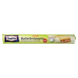 Toppits Butterbrotpapier Fettdichtes Spezialpapier 16m x 28cm