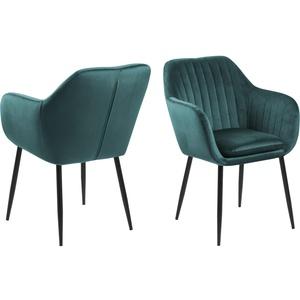 Esszimmerstuhl Emil Essstuhl Küchenstuhl Polsterstuhl Stuhl Stühle grün schwarz