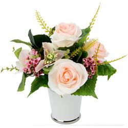 Kunstpflanze Rosen/Blüten, I.GE.A., Höhe 26 cm