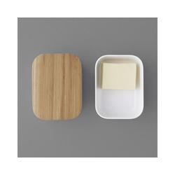 Stelton Butterdose RIG-TIG BOX-IT Butterdose, warmgrau, Melamin, Bambus