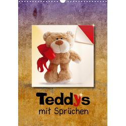 Teddys mit Sprüchen (Wandkalender 2021 DIN A3 hoch)