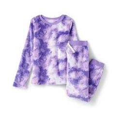 Pyjama-Set aus Plüsch-Fleece - 128/134 - Lila