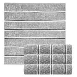 Lashuma Handtuch Set Checks (4-tlg), Küchentücher Frottee, Geschirrtücher 50x50 cm grau