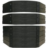 KHW Komposter Schnellkomposter Aufbausatz, 250 l schwarz
