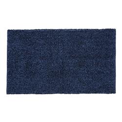 Kleine Wolke Badteppich Delight in dunkelblau, 70 x 120 cm