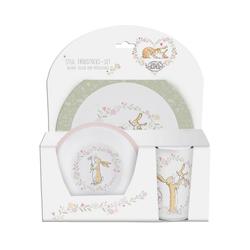 p:os Kindergeschirr-Set Kindergeschirr Keramik Minnie Mouse, 3-tlg. weiß
