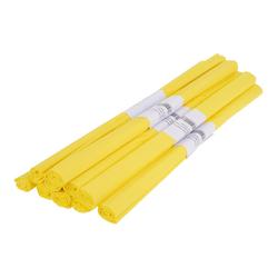 VBS Feinpapier Krepppapier Farbenfroh 50 x 200 cm, 10 Rollen gelb
