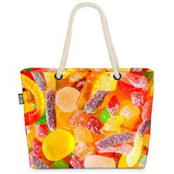 VOID Strandtasche (1-tlg), Süßigkeiten Gummibärchen Süßigkeiten Gummibärchen Essen Kochen Kinder