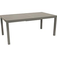 gartenmoebel-einkauf Pisa Ausziehtisch 200 x 90 x 75 cm grau
