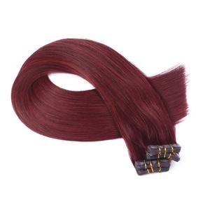Tape In - On Hair Extensions - # 99-60cm - 50 Tressen je 4cm Breit/2,5g - 100% Remy Echthaar Haarverlängerung/Extention mit Klebeband Tressen by NOVON Hair Extentions