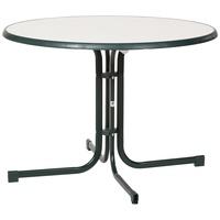 Sieger Boulevard-Klapptisch mit mecalit-Pro-Platte 100 x 72 cm smaragdgrün/Marmordekor weiß