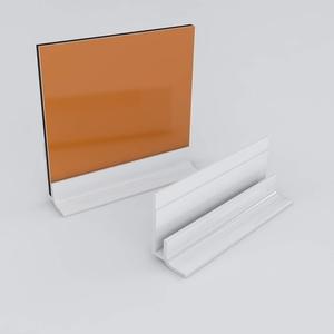 Küchenrückwand-Profilsystem Sockelprofil Aluprofil Aluminiumprofil für 3mm Duschrückwand Küchenspiegel 300cm weiss