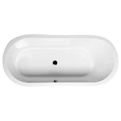 HAK Badewanne ASTRA ovale Badewanne mit Wannenfüßen, 165x75x48 cm