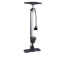 breluxx Fahrradpumpe Fahrrad Standluftpumpe mit Manometer, 0-10bar, inkl. Ventiladapter