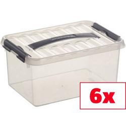 Helit Aufbewahrungsbox Sunware Q-line Transparent 6l (B x H x T) 200 x 140 x 300mm 6St.
