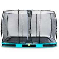 EXIT TOYS Elegant Inground-Trampolin 244 x 427 cm inkl. Economy Sicherheitsnetz blau