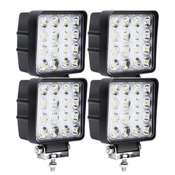 Einfeben LED Scheinwerfer 4X 48W LED Arbeitsscheinwerfer Offroad Scheinwerfer 12V 24V LKW für Jeep SUV, LED