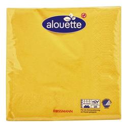 30 Servietten 3-lagig 33 x 33 cm gelb, alouette