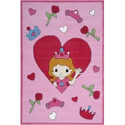 Kinderteppich Tiere Kindergarten MH-4128 (Rose; 120 x 180 cm)