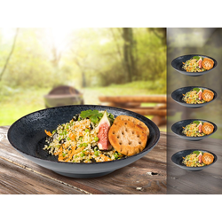 APS Geschirr-Set (4-tlg), Melamin, Camping-Geschirr Suppen-Teller, Picknickgeschirr, Bootsgeschirr, Essgeschirr für Wohnmobil