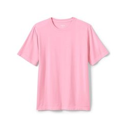 Stückgefärbtes Super-T Kurzarm-Shirt, Classic Fit, Herren, Größe: XL Normal, Pink, Jersey, by Lands' End, Salzwasser Pink - XL - Salzwasser Pink