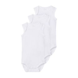 name it Body ärmellos 3er Pack bright white