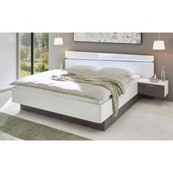 Vito Bett mit Nachtkonsolen 4002 in weiß hochglanz