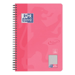 Collegeblock »Touch« B5 kariert, Optik-Papier rosa, Oxford