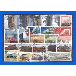 50 verschiedene Briefmarken Eisenbahnen
