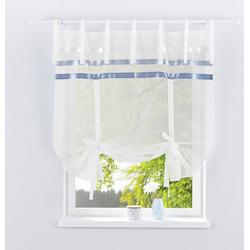 Bindegardine EBY, my home, Bindebänder (1 Stück) weiß 140 cm x 145 cm