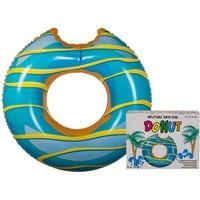 Out of the blue OOTB 91/4175 Schwimmring Donut mit Biss Aufblasbarer Donut Schwimmreifen ca. Ø 120 cm Türkis/Gelb