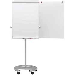 FLIPCHART FUNKTIONELL, MOBIL , SILBER