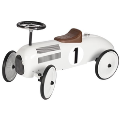 Goki 14175 - Rutscherfahrzeug Rutschauto Metall/Kunststoff weiß