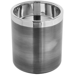 Fink Kerzenhalter VITO (1 Stück), aus Edelstahl, im modernen Design grau Ø 10 cm x 11 cm