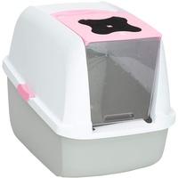 Catit Katzentoilette mit Abdeckung - Rosa